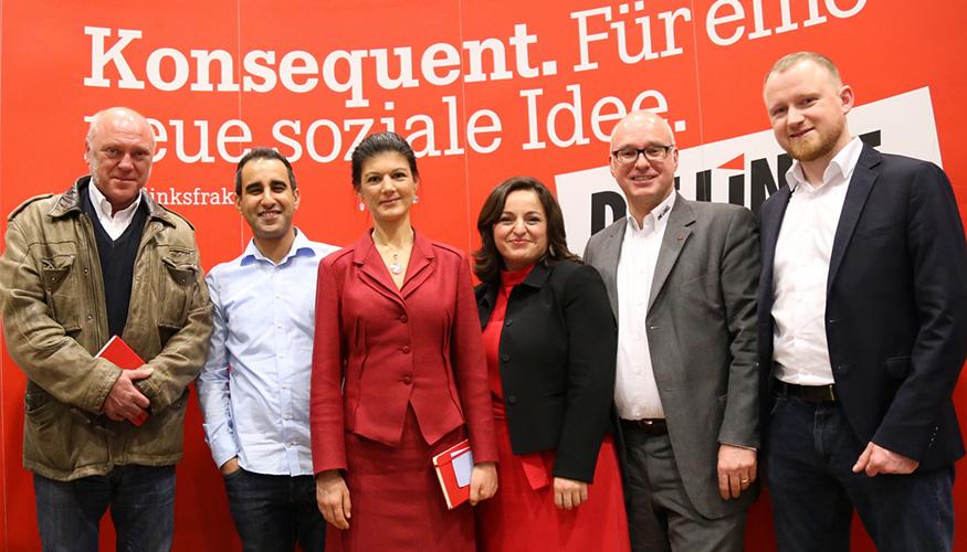 Umverteilen Jetzt!: Veranstaltung der Fraktion mit Sahra Wagenknecht, Sevim Dagdelen und Matthias W. Birkwald