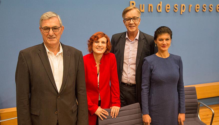 Bundespressekonferenz: Bernd Riexinger, Katja Kipping, Dietmar Bartsch und Sahra Wagenknecht