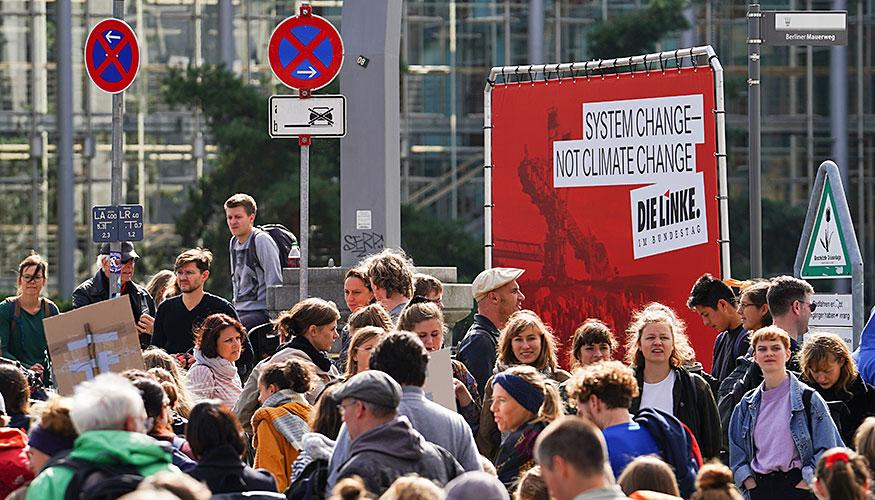 Proteste gegen die Klimapolitik der Bundesregierung in Berlin