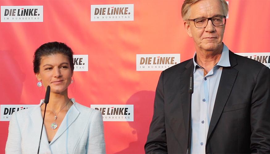 Pressestatement: Sahra Wagenknecht und Dietmar Bartsch
