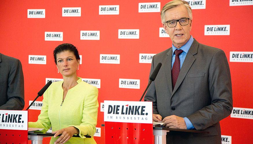 Die Fraktionsvorsitzenden Sahra Wagenknecht und Dietmar Bartsch